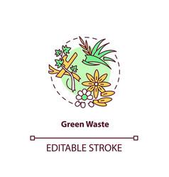 Green waste concept icon vector