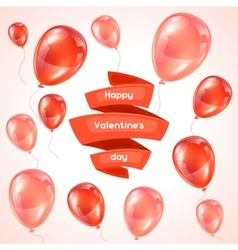 Happy Valentine day greeting card with pink and vector