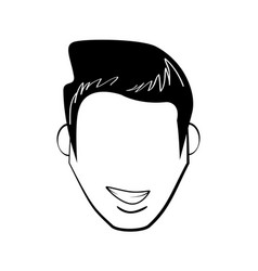Head man avatar comic vector