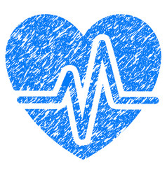 heart diagram grunge icon vector image