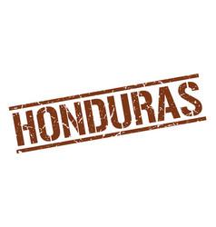 Honduras brown square stamp vector