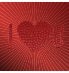 I love You Realistic Valentines Day paper Letters vector image