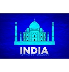 India Taj Mahal on vector image