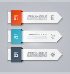 Infographic arrow template with 3 options vector
