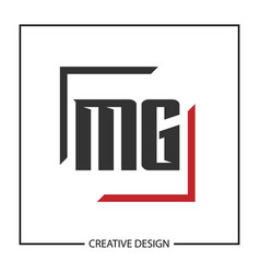 Initial letter mg logo template design vector