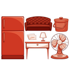 Isolated set household item vector