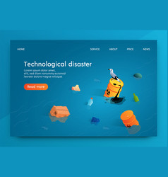 Isometric technological disaster vector