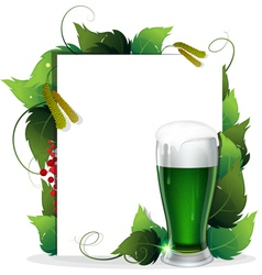 Leprechaun green beer vector