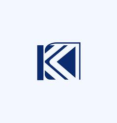 Letter k book education creative business logo vector