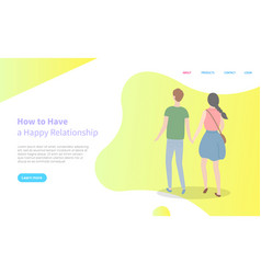 man and woman holding hands relationship vector image