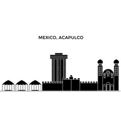Mexico acapulco architecture urban skyline with vector