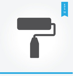paint roller icon simple sign for web site and vector image