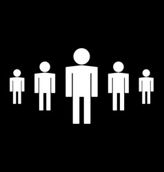 person icon set isolated on black background vector image