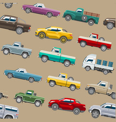 pickup car auto delivery transport pick up vector image