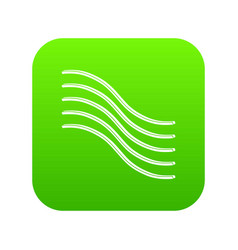 postal lines icon green vector image