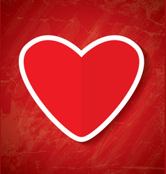 Red paper heart vector
