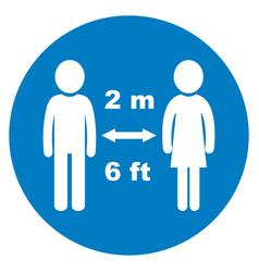 safe distance blue vector image