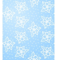 Seamless Floral Blue Background vector