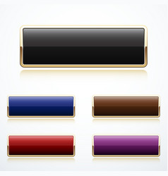 Set of gold buttons vector