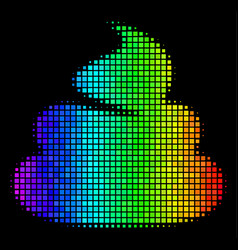 Spectrum dot shit icon vector