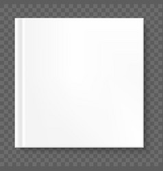 Square book cover isolated eps 10 vector
