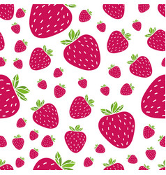 summer pattern with strawberries vector image