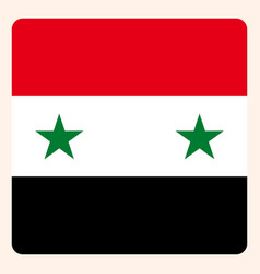 syria square flag button social media vector image