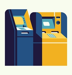 Teller Machine vector image