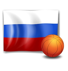 The flag of Russia with a ball vector
