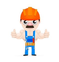The man with the muscles vector image