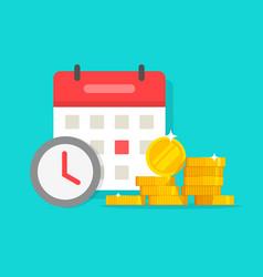 time money savings flat cartoon timer or vector image