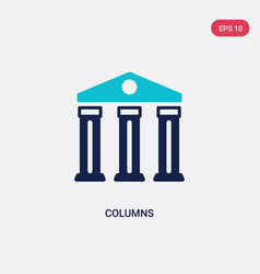 Two color columns icon from history concept vector