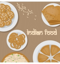 Vedic Indian cuisine set of vegetarian healthy vector image