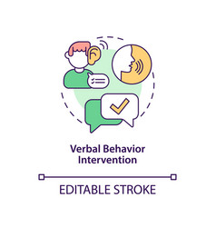 Verbal behavior intervention concept icon vector