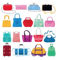 woman bag girls handbag or purse and vector image