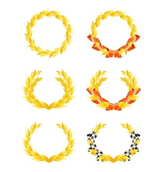 Wreaths set vector image
