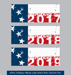 Betsy ross flag independence day timeline cover - vector