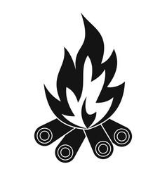 bonfire icon simple style vector image vector image