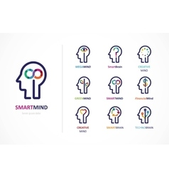 Brain Creative mind learning and design icon vector image