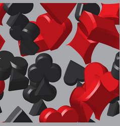 Card symbols seamless pattern vector