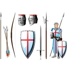 crusader set vector image vector image