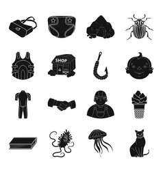 fishing education medicine and other web icon in vector image vector image