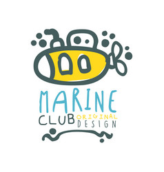 Original sea club logo design template with vector
