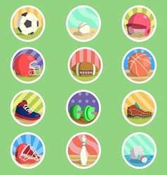 Sport Equipment Flat Icon vector image
