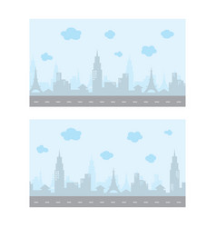 Video game asset city view color theme art vector