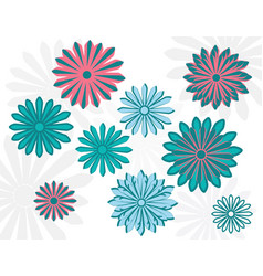 flat art daisy design template vector image vector image