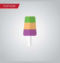 isolated ice cream flat icon sundae vector image vector image