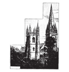 llandaff cathedral the seat of the anglican vector image vector image