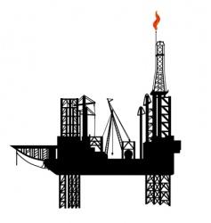 oil drilling platform vector image vector image