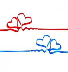 silk tape heart vector image vector image